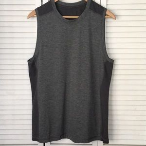 Lululemon Vent  Muscle Tank Top Mesh Large Grey